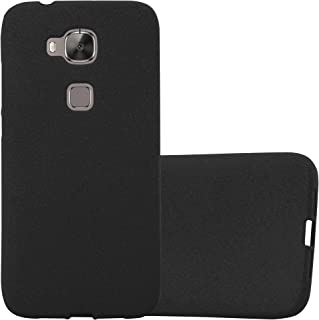 Cadorabo Case Works with Huawei G7 Plus / G8 / GX8 in Frost Black – Shockproof and Scratch Resistant TPU Silicone Cover – Ultra Slim Protective Gel Shell Bumper Back Skin