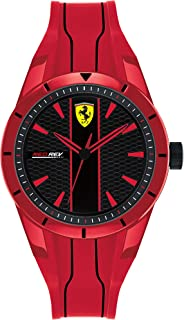 Scuderia Ferrari Ferrari Men's Black Dial Red Silicone Watch - 830494