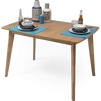 Homely - Mesa de Comedor-Cocina Extensible de diseño nórdico de ...