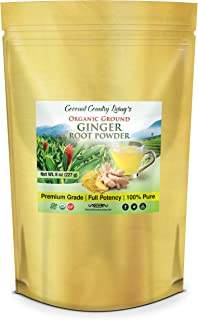 Organic Ginger Powder 8 oz Spice Raw Aromatic for Supplement