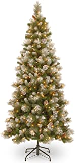 National Tree 7.5 Foot Snow Capped Mountain Pine Slim Tree