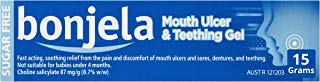 New Bonjela Mouth Ulcer 15g - Fast Acting, Soothing Relief from Ulcer Pain