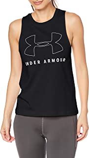 Under Armour Women's Sportstyle Graphic Muscle Tank Top, Black (Black/White), Small