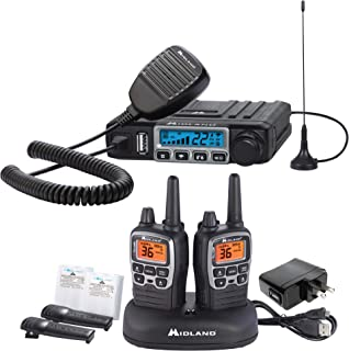Midland - MXT115AG, MicroMobile Farm Radio Bundle - MicroMobile MXT115 15 Watt GMRS Two-Way Radio w/External Magnetic Mount Antenna & X-TALKER T71VP3 Two-Way Radio w/ 121 Privacy Codes (Pair Pack)…