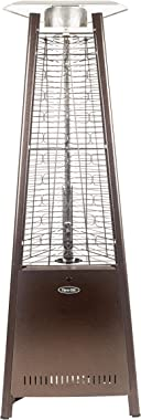 "Dyna-Glo DGPH401BR 42,000 BTU 73"" Hammered Bronze Pyramid Flame Patio Heater"
