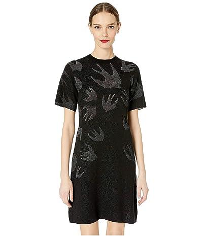 McQ Pointelle SW Dress (Darkest Black) Women