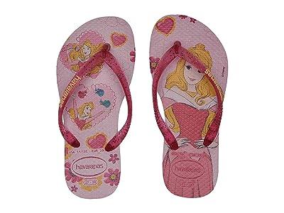 Havaianas Kids Slim Princess Flip Flops (Toddler/Little Kid/Big Kid) (Cream Rose/Lollipop) Girls Shoes
