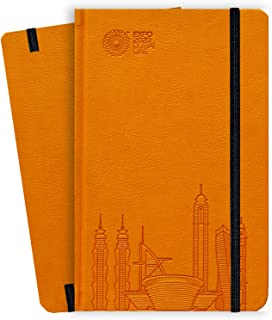 Expo 2020 Dubai A5 Note Book Dubai Skyline Orange - 13.5 x 21 x 1.4 cm