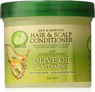 TCB Naturals Conditioner Hair & Scalp Olive Oil & Vitamin-E Jar, 10 Ounce