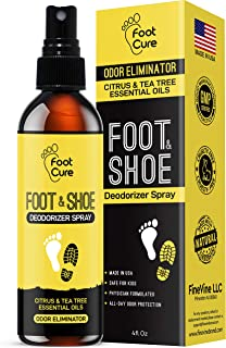All Natural Tea Tree Oil & Citrus Shoe Deodorizer| Shoe Spray Eliminates Odor Causing Germs Leaving You Fresh| Shoe Spray Deodorizer Made in USA| Foot Spray for All Shoe Types| Foot Deodorant Spray