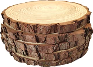 Natural Wood Slices Round Pine Wood Slabs 5 Pack Round Rustic Woods Slices 9
