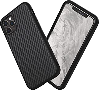 RhinoShield Case for iPhone 11 SolidSuit - Shock Absorbent Slim Design Protective Cover with Premium Matte Finish 3.5M/11ft Drop Protection - Carbon Fiber Finish - Black