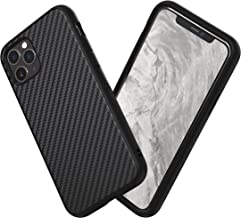 RhinoShield Case for iPhone 11 Pro SolidSuit - Shock Absorbent Slim Design Protective Cover with Premium Matte Finish 3.5M/11ft Drop Protection - Carbon Fiber Finish - Black
