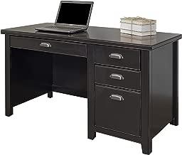 Martin Furniture TL540 Inspired Tribeca Loft Black Single Pedestal Desk