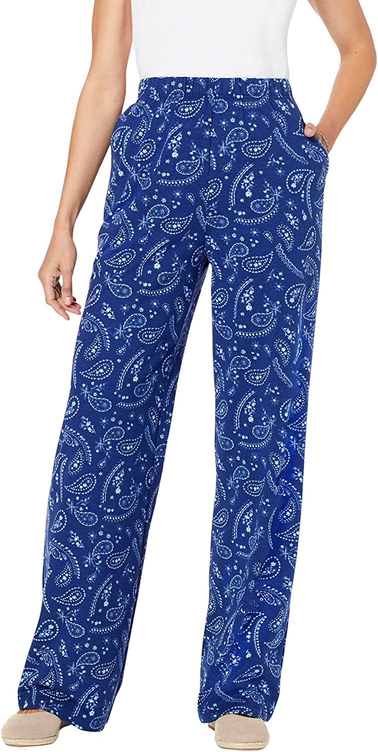 Woman Within Women's Plus Size Printed Pull-On Pants