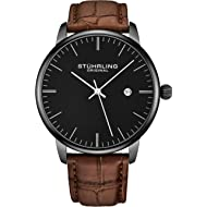 Mens Watch Calfskin Leather Strap - Dress + Casual Design - Analog Watch Dial with Date, 3997Z...