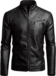 Men's Casual Faux Leather Jacket