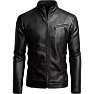 Fairylinks Men's Casual... Fairylinks Men's Casual Motorcycle Faux Leather Jacket