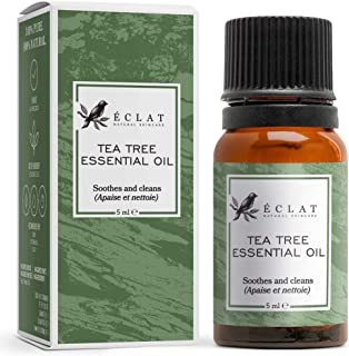 Tea Tree Essential Oil by Eclat - 100% Pure Tea Tree Oil, All-Natural, Vegan & Concentrated - for Treating Skin and for Aromatherapy
