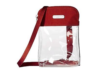 Baggallini Legacy Stadium Bags Clear Bryant Crossbody (Red) Cross Body Handbags