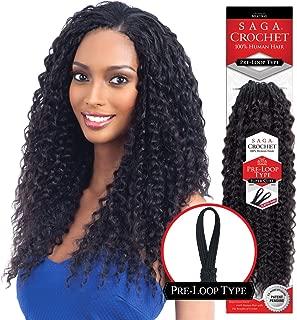Saga Human Hair Crochet Braids Pre Loop Type Super Curl (16