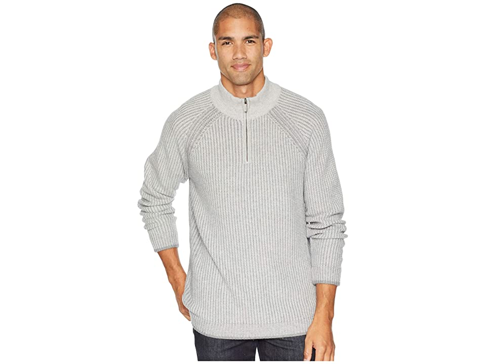Toad&Co Strahlhorn 1/4 Zip Sweater (Light Ash) Men