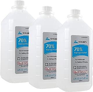 Swan Isoprophyl Alcohol, 70% 16 oz (Pack of 3)