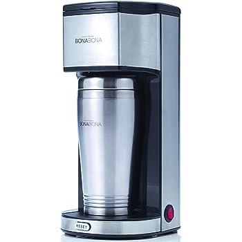 CCP 【BONABONA】 タンブラー付きコーヒーメーカー 「コーヒー粉・カフェポッド使用可能」 ブラック BZ-TC80-BK