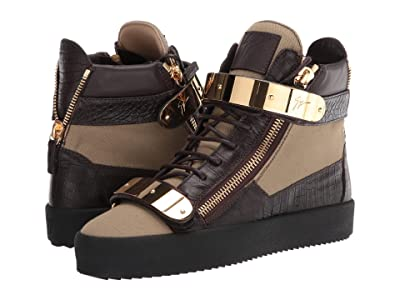 Giuseppe Zanotti May London High Top Embroidered Sneaker (Fango) Men