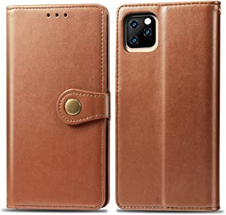 Protect Your Phone, Retro Solid Color Leather Buckle Mobile Phone Protection Leather Case with Photo Frame & Card Slot & Wallet & Bracket Function for iPhone XIR(2019) for Cellphone.