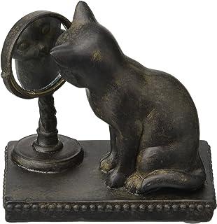 Abbott Collection Cat Gazing in Mirror Figurine
