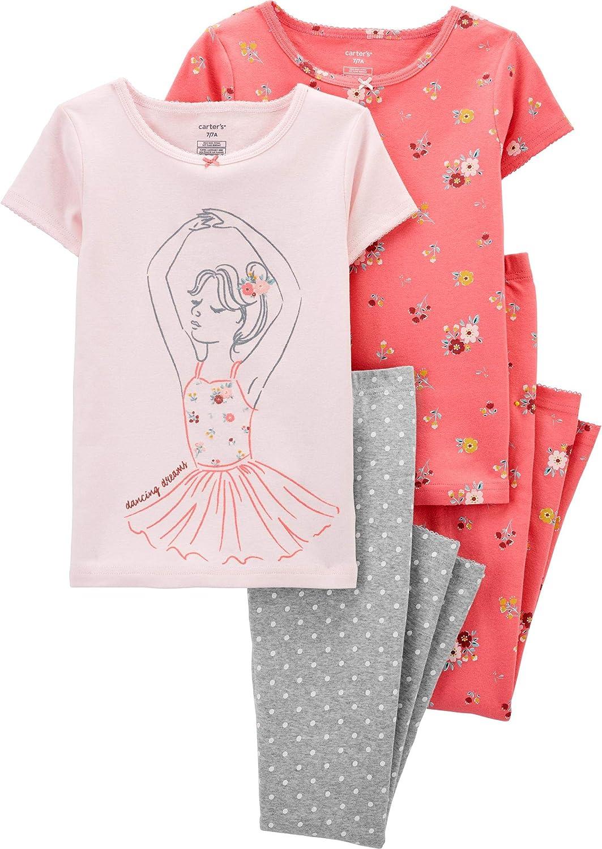 Carter's Girls' 2T-16 4-Pc. Ballerina Snug Fit Cotton Pajamas