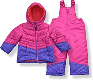 Arctic Quest Infant, Toddler & Young Girls Puffer Ski Jacket and Snowbib Snowsuit Set