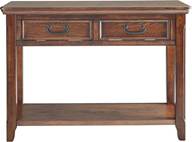 Signature Design by Ashley Woodboro Sofa Table Dark Brown Finish
