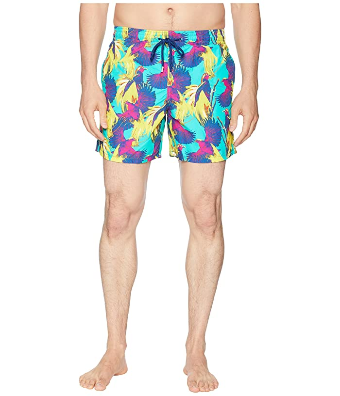 Vilebrequin Moorea Birds of Paradise Swim Trunk (Veronese) Men