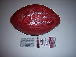 Autographed Rich Gannon Football - Mvp 2002 coa - JSA Certified - Autographed Footballs