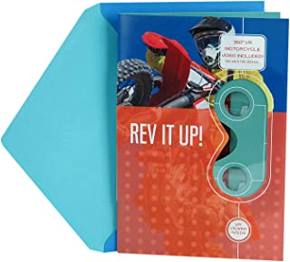 Hallmark Father's Day Greeting Card with Removable Virtual Reality VR Viewer (Ride a Motorcycle Virtual Reality Video)