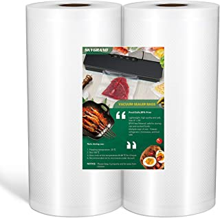SKYGRAND Vacuum Sealer Bags For Freezer Storage Machine Bags For Food Saver, BPA Free Heavy Duty Pre-Cut Design Commercial...