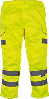 Yoko Hi Vis Cargo Trousers with Knee Pad Pockets - 4 Colours / 28