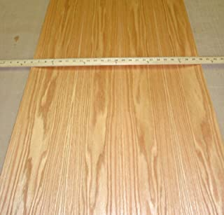 """Red Oak wood veneer 24"""" x 96"""" with peel and stick adhesive PSA backer A grade"""
