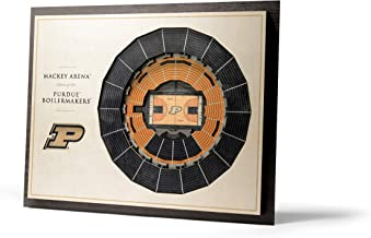 YouTheFan NCAA Purdue Boilermakers 5-Layer StadiumView 3D Wall Art