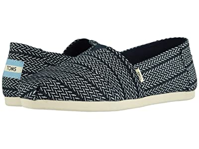 TOMS Alpargata 3.0 (Navy Large Herringbone Woven) Women