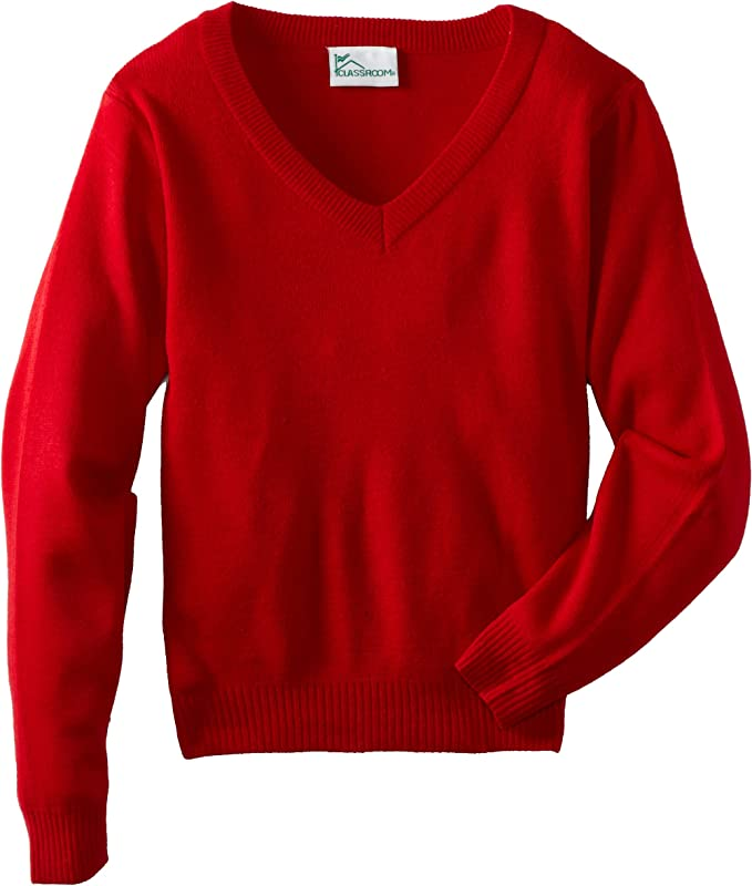 Childrens Kids Pull Over School Unifrom Winter Jumper Full Sleeve V Neck Sweater REAL LIFE FASHION LTD