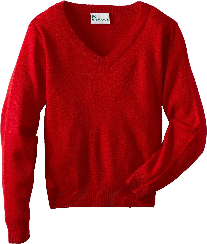 CLASSROOM Boys' Uniform Long Sweater Sleeve Max 55% New life OFF V-Neck