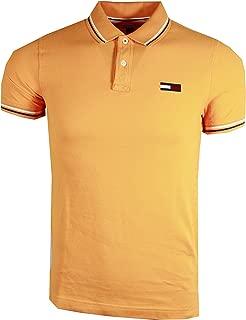Men's Big Logo Slim FIT Stripped Collar Polo