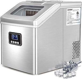 Euhomy 40Lbs/24H Portable Compact Ice Cube Maker