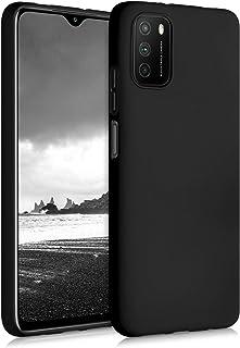 kwmobile 対応: Xiaomi Poco M3 専用ケース - 耐衝撃 TPUソフト シリコンケース スマホカバー 滑り止め - ケース