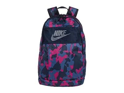 Nike Elemental Backpack All Over Print 2.0 (Obsidian/Obsidian/White) Backpack Bags