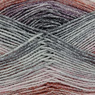 King Cole Shine DK Double Knitting Yarn 100g Ball Acrylic Wool with Sparkle Detail (Smoothie - 3084)
