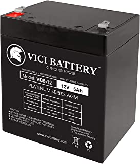 VICI Battery 12V 5Ah Scooter Battery Replace 4.5Ah Enduring 6FM4.5, 6 FM 4.5 Brand Product